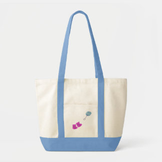 Babby Rattle And Booties Tote Bags