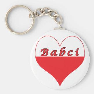 Babci Polish Heart Keychain