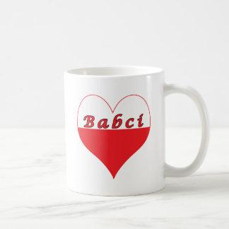 Babci Polish Heart Classic White Coffee Mug