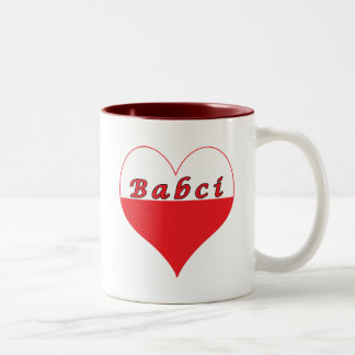Babci Polish Heart Two-Tone Coffee Mug