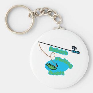 Babcia' compinche de la pesca de s llavero personalizado