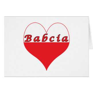 Babcia Polish Heart Card