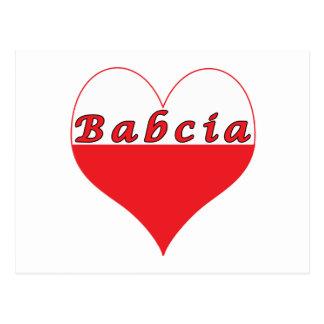 Babcia Polish Heart Postcard