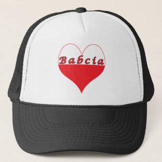 Babcia Polish Heart Trucker Hat