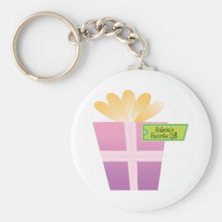 Babcia' regalo del favorito de s llaveros personalizados