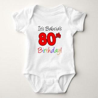 Babcia's 80th Birthday Baby Bodysuit