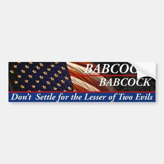 Babcock Babcock para el presidente Pegatina Para Auto