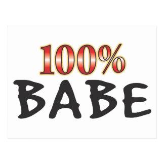 Babe 100 Percent Postcard