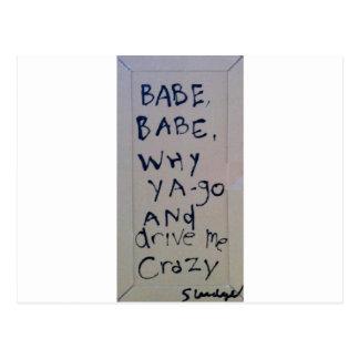 babe babe... sludge lyrics by SLUDGEart Postcard