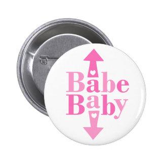 Babe Baby 2 Inch Round Button
