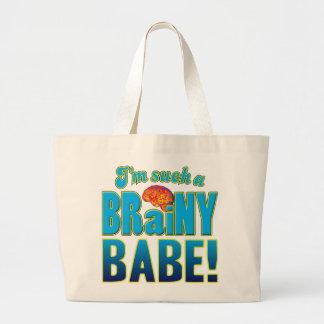Babe Brainy Brain.pdf Canvas Bags