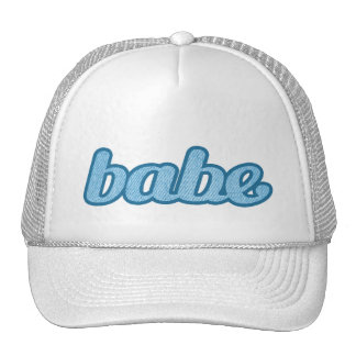 """babe"" denim blue and white hat"
