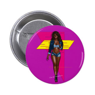 Babe in bluejeans 2 inch round button