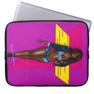 babe in bluejeans laptop sleeve