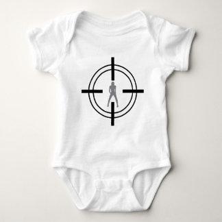 babe in bull´s eye icon baby bodysuit