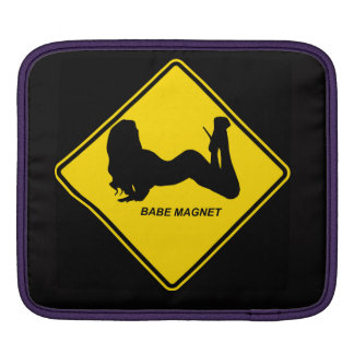 """""""Babe Magnet"""" design Apple product cases iPad Sleeves"""