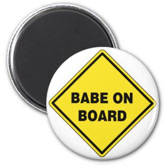 Babe On Board Fridge Magnets