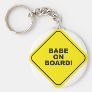 babe on board keychain