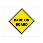 Babe On Board Post Cards