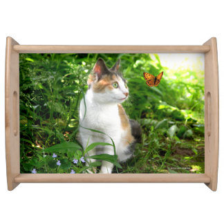 """""""Babe & The Butterfly"""" Serving Tray"""