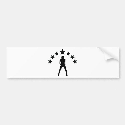 babe with stars icon bumper sticker
