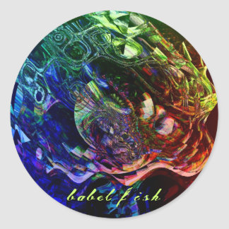 Babel Fish Classic Round Sticker
