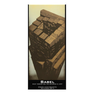 """Babel"" Value Bookmark Customized Rack Card"