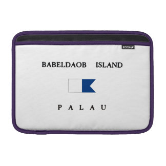 Babeldaob Island Palau Alpha Dive Flag MacBook Sleeve
