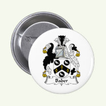 Baber Family Crest Button