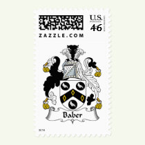 Baber Family Crest Stamps