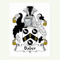Baber Family Crest Postcard