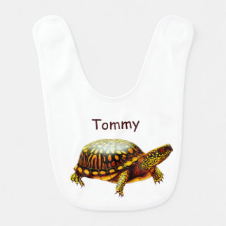 Babero amistoso del bebé de la tortuga de caja