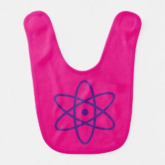babero atómico - púrpura y rosa