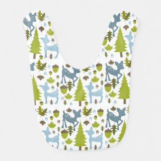 Babero azul del bebé de los ciervos