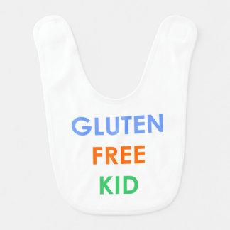Babero celiaco libre del bebé del gluten