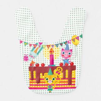 Babero de la torta de cumpleaños de los animales