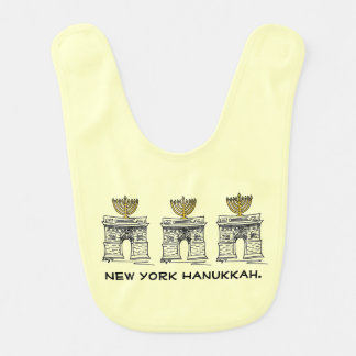 Babero de Nueva York Jánuca Chanukah NYC Menorah