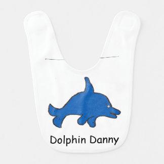 Babero del bebé de Danny del delfín
