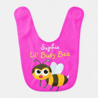 Babero del bebé de la abeja ocupada de Lil