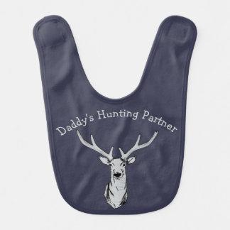 Babero del bebé de la caza de los ciervos del