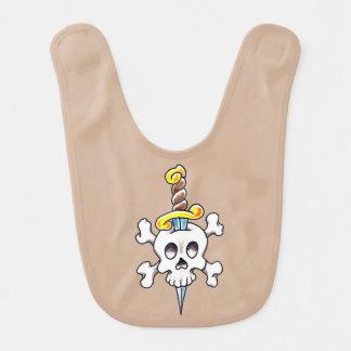 Babero del bebé de la Cráneo-n-Daga