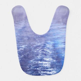 Babero del bebé de las olas oceánicas