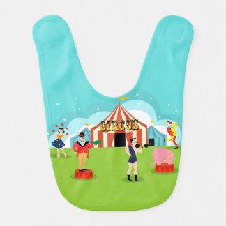 Babero del bebé del circo del vintage
