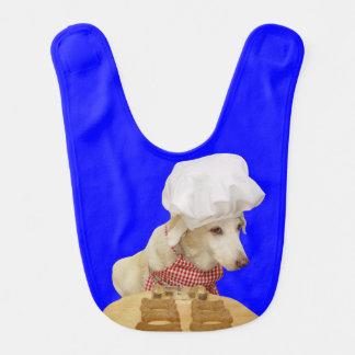 Babero del bebé del cocinero del perrito