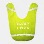 Babero del bebé del diseño del tenis