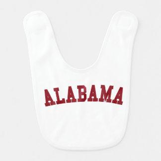 Babero del bebé del estado: Alabama