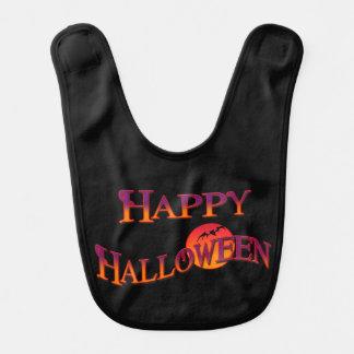 Babero del bebé del feliz Halloween