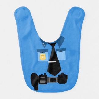 Babero del bebé del oficial de policía