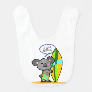 Babero del bebé del oso de koala de la resaca