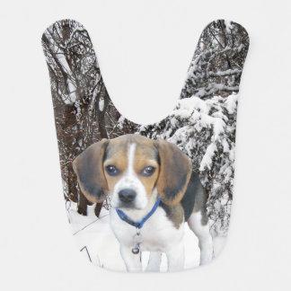 Babero del bebé del perrito del beagle de maderas